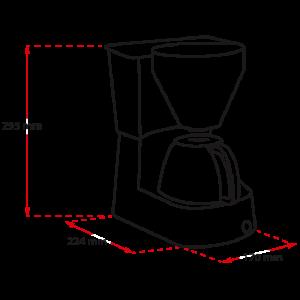 Easy aparat za kavu bijeli – Aparat za filter kavu
